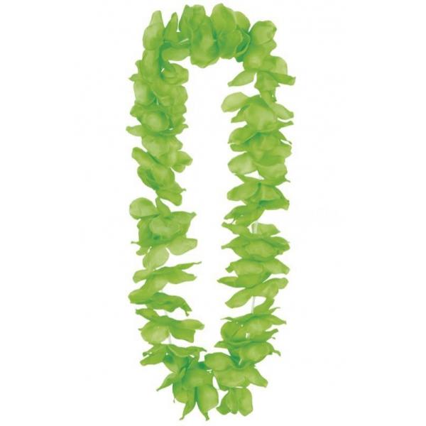 collier hawaïen vert 100cm