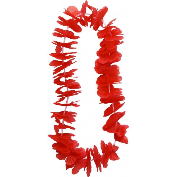 collier hawaïen rouge 100cm