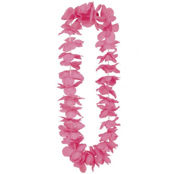collier hawaïen rose 100cm