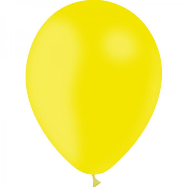 100 ballons jaune citron opaque 28 cm