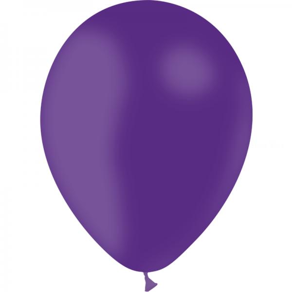 100 ballons violet opaque 28 cm