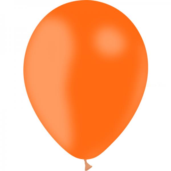 100 ballons orange opaque 30cm