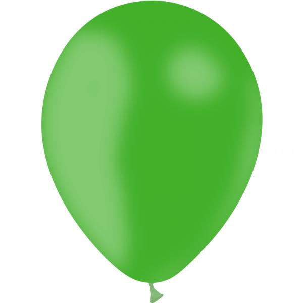 100 ballons vert printemps opaque 30cm