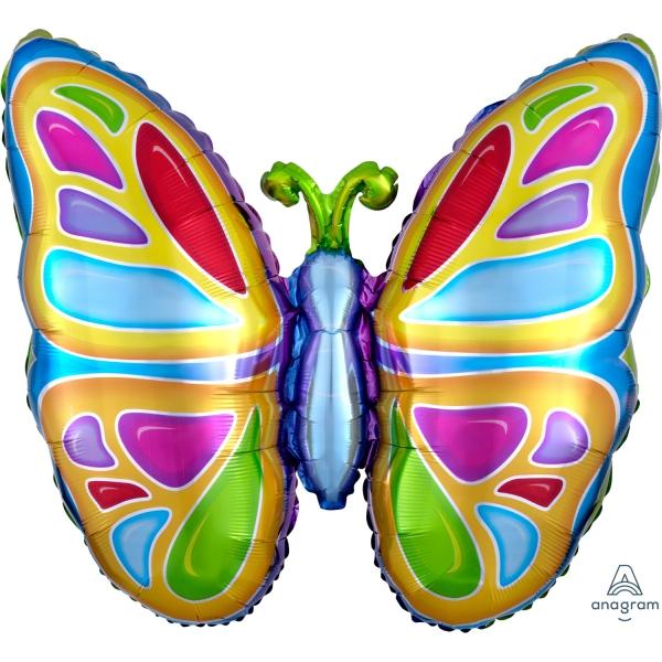 Papillons ballon mylar 63*63cm07254 Papillons mylar
