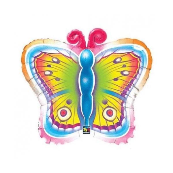 Papillons ballon mylar 66 cm