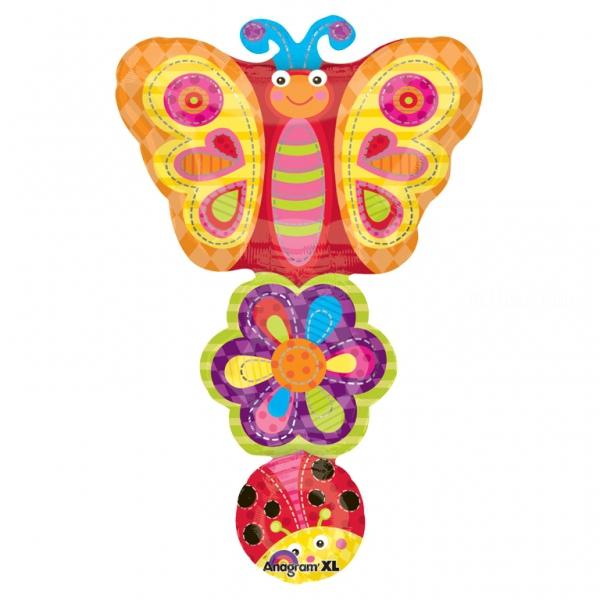 Papillons ballon mylar 86*56cm17258 Papillons mylar