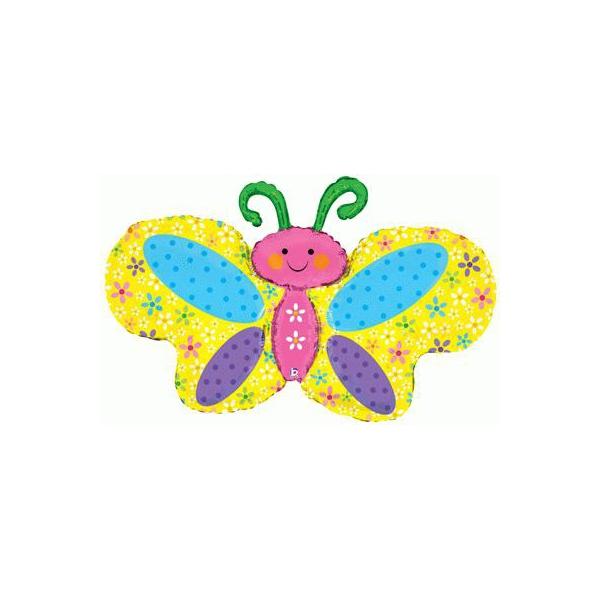 Papillons ballon mylar 105 cm