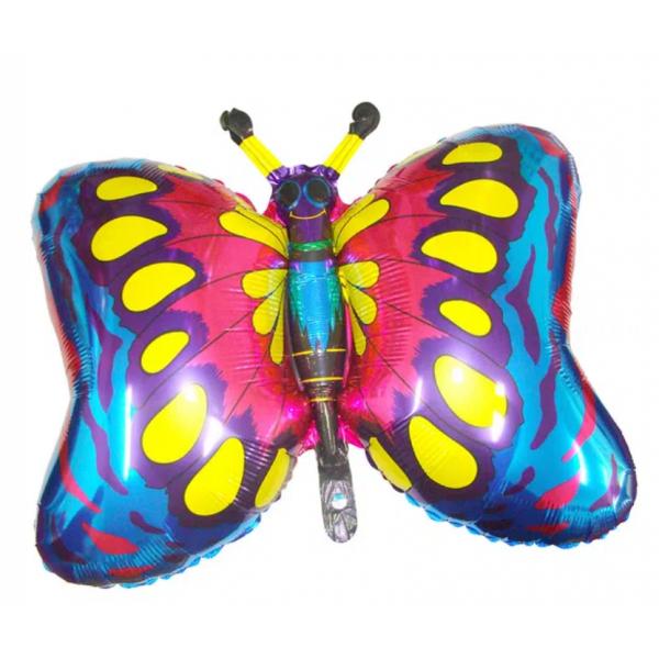 papillon ballon mylar 75*75 cmpapillonbleu Papillons mylar
