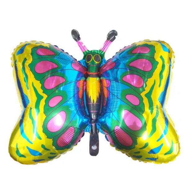 papillon ballon mylar 75*75 cmpapillonjaune Papillons mylar