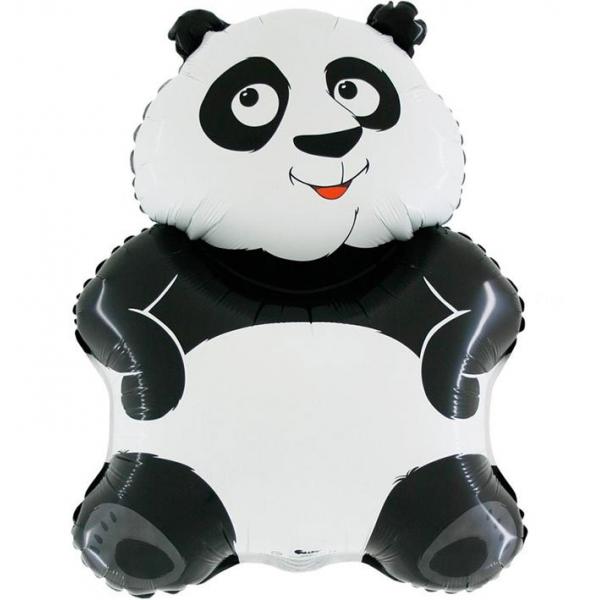 ballon panda mylar 70 cm environ à plat