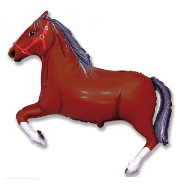 cheval marron mylar 70 cm