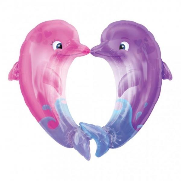dauphins coeur 76cm 86 cm
