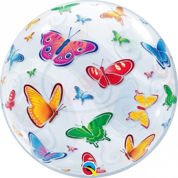 deco bubble papillons 56cm
