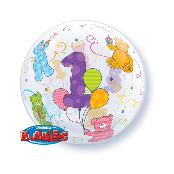 bubble ballon 1 Teddy 56cm