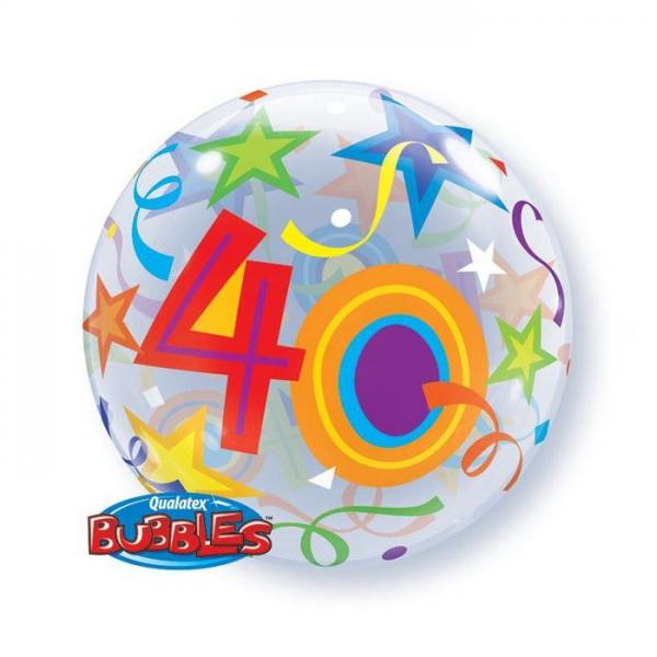 bubble 40em anniversaire 56cm