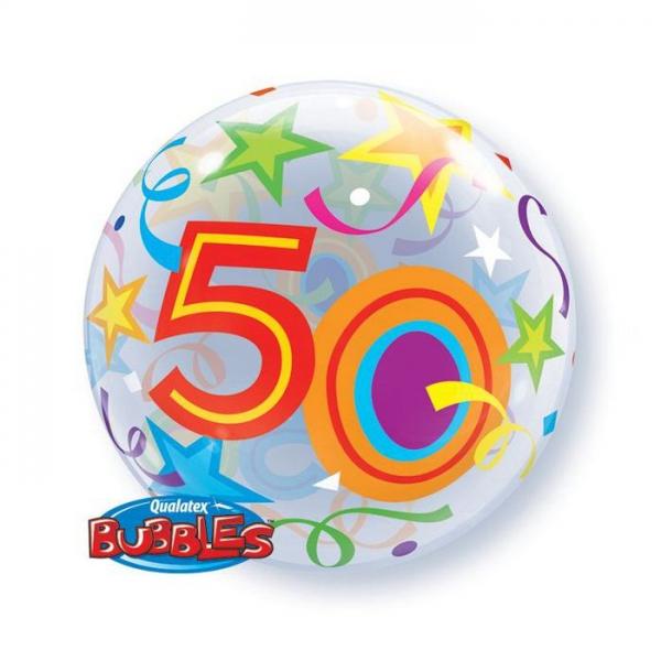 bubble 50em anniversaire 56 cm