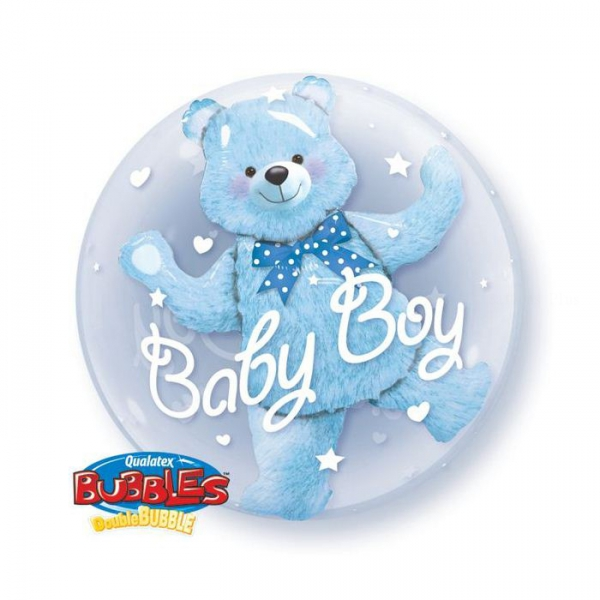 ours 3d bubble ballon baby boy 60.96cm