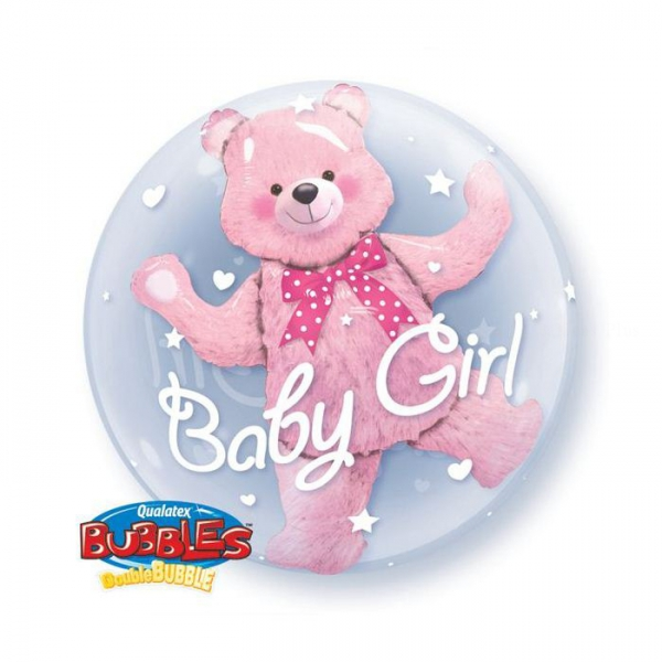 ours 3d bubble ballon baby girl 60.96cm