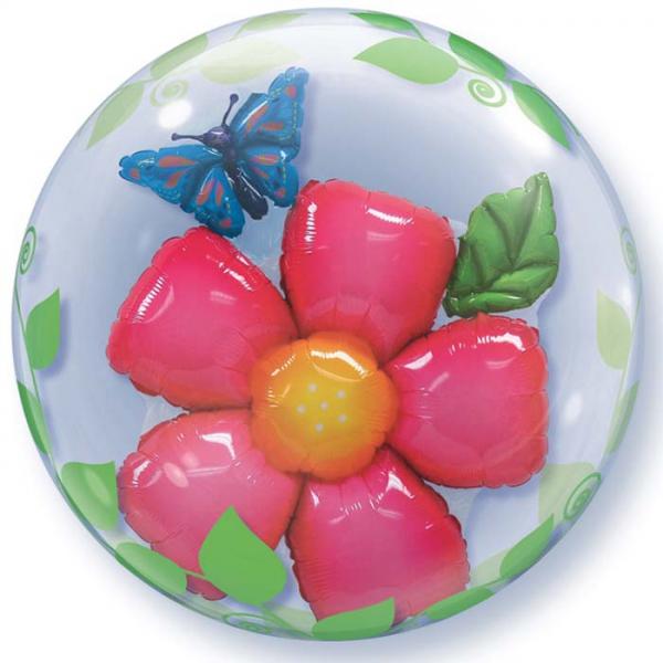 fleur 3d bubble ballon 61cm