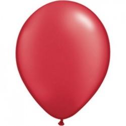 50 qualatex 40 cm couleurs metal rouge rubis