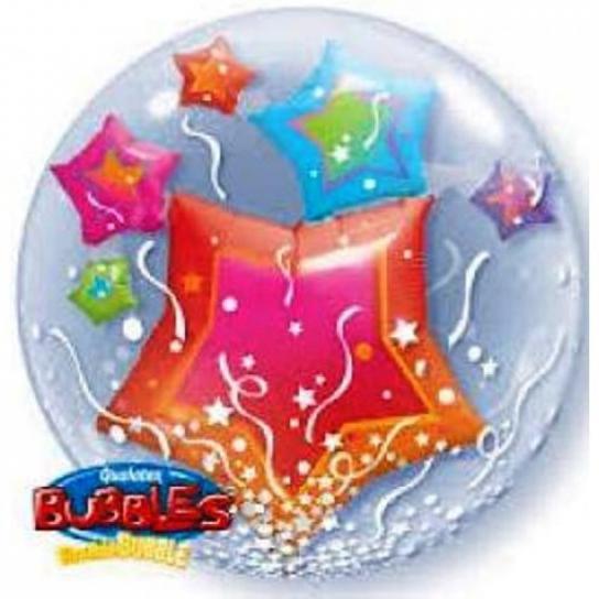 3d étoiles bubble double 61 cm
