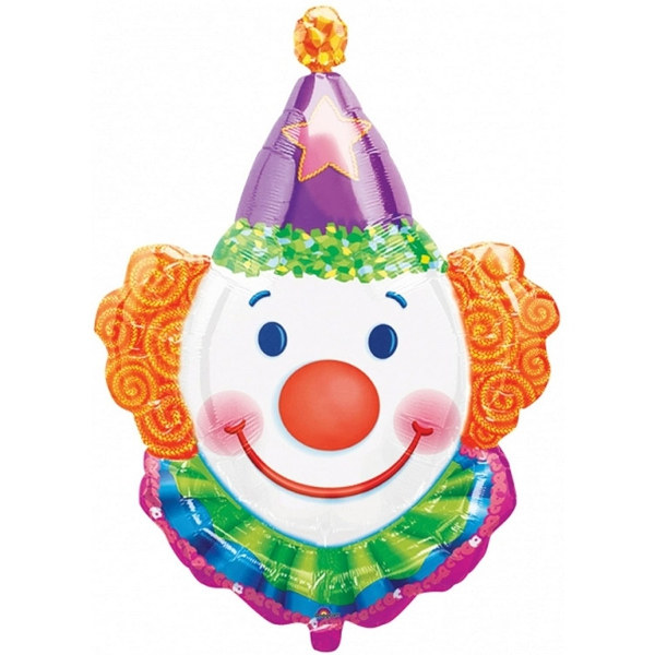Tête de clown ballon mylar 63*83cm