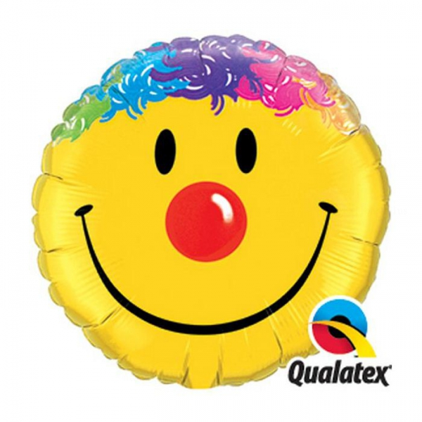 qualatex mylar smile 45cm à plat
