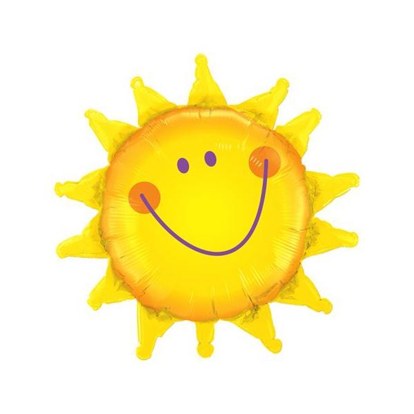 Soleil smile qualatex 89 cm de diamètre