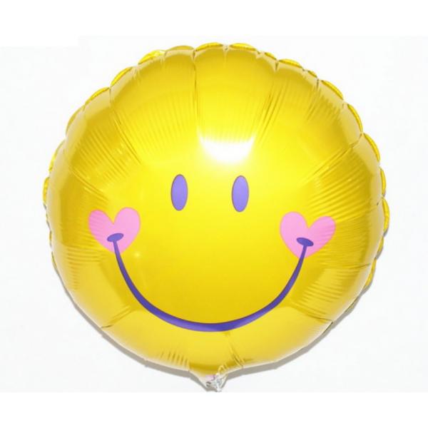 smyle jaune Ballon métal 45 cm