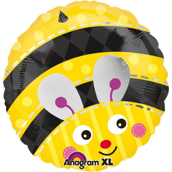 abeille smile ballon mylar 45 cm