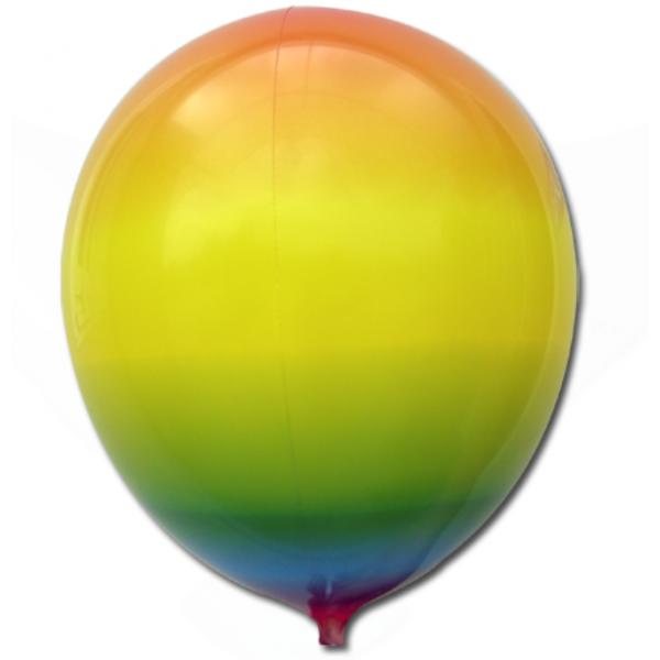 ballon arc en ciel foil 35 cm