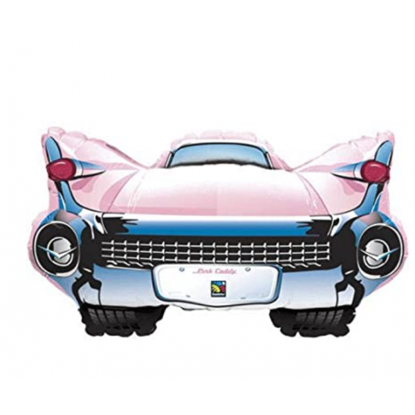 qualatex mylar pink caddy 94 cm vendu non gonflé