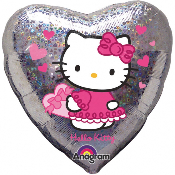 Hello Kitty ballon holographique coeur 45 cm