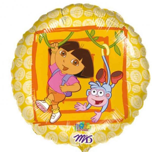 Dora et Babouche ballon mylar rond 45 cm