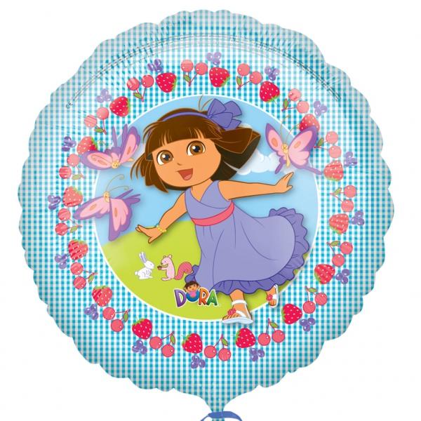 Dora ballon mylar rond 45 cm