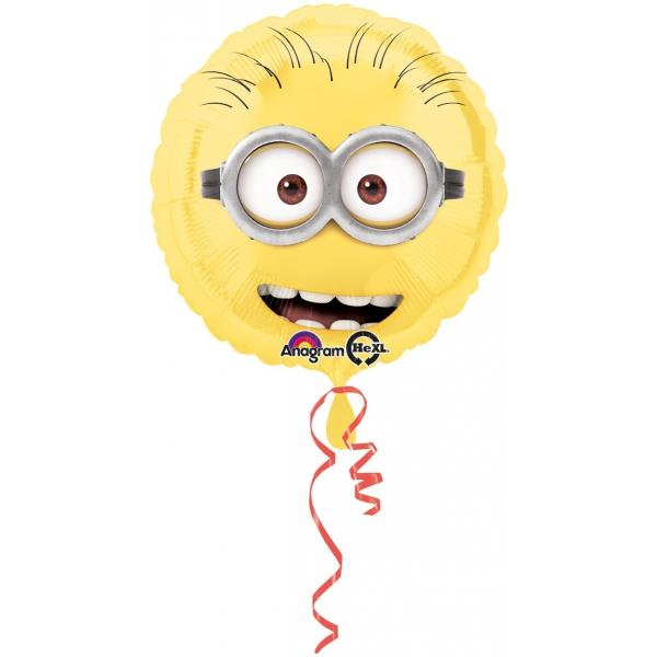 Minions ballon mylar diamètre 43 cm