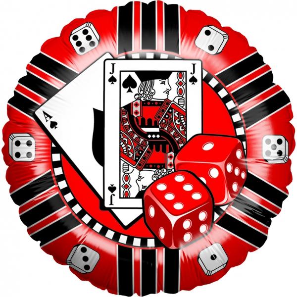 jeton de casino mylar 45 cm de diamètre