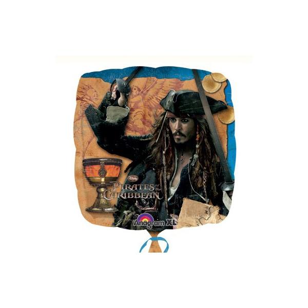 Pirates des caraïbes ballon mylar 45 cm