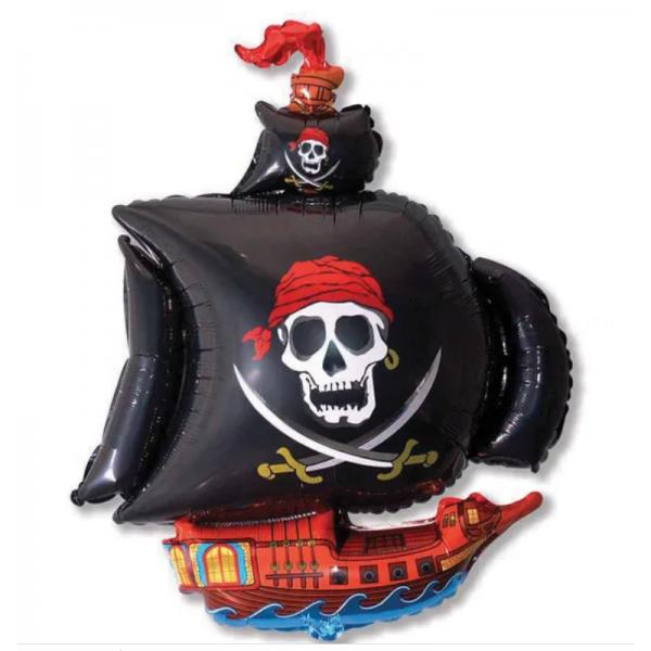 bateau pirate ballon mylar 63 *71cm non gonflé