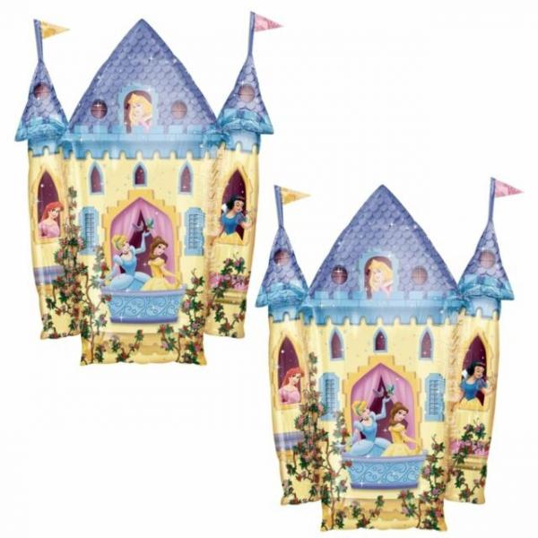 chateau princesses ballon métal forme 66*89 cm