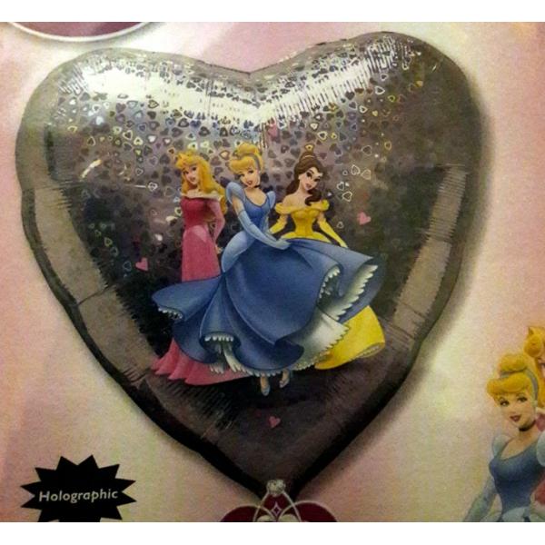 Les princesses Disney coeur ballon holographique 45cm
