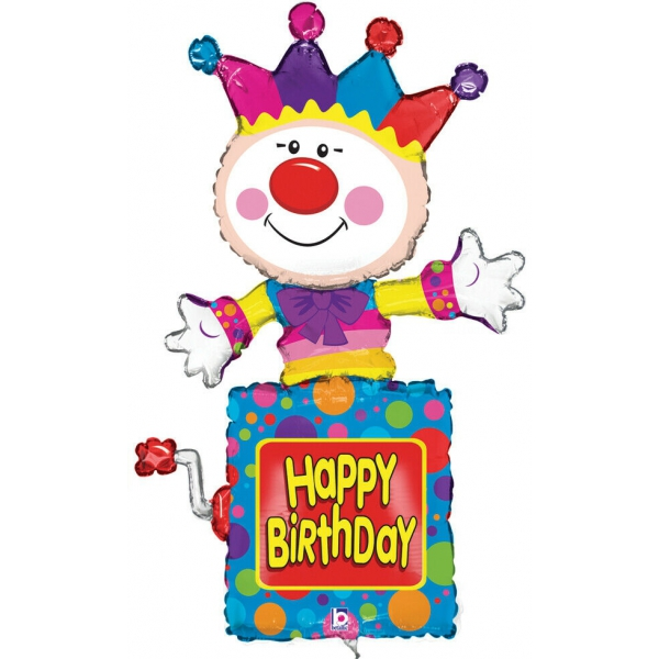 clown boite musical happy birthday 105 cm
