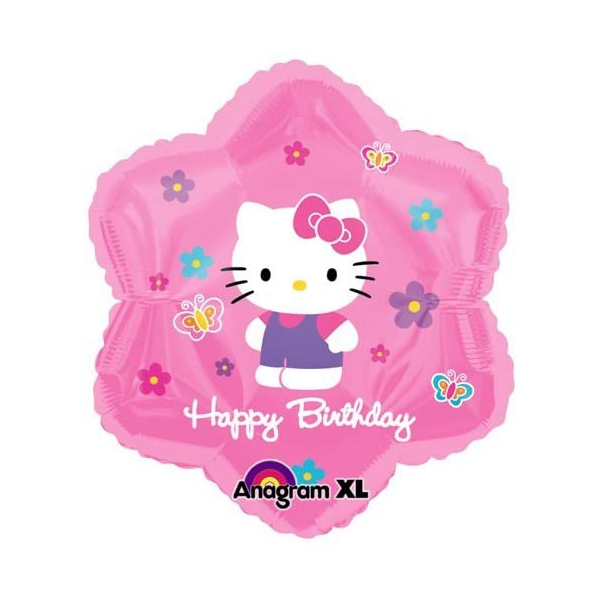 Hello Kitty ballon Happy Birthday 45 cm