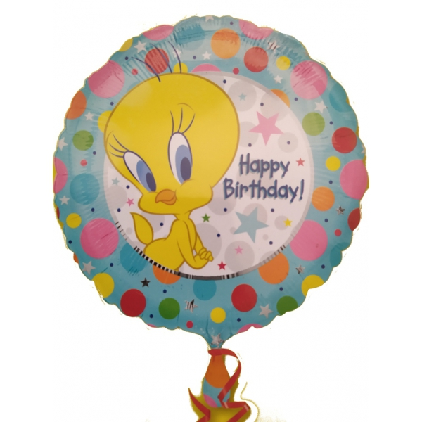 titi happy birthday 45 cm de diamètre mylar rond