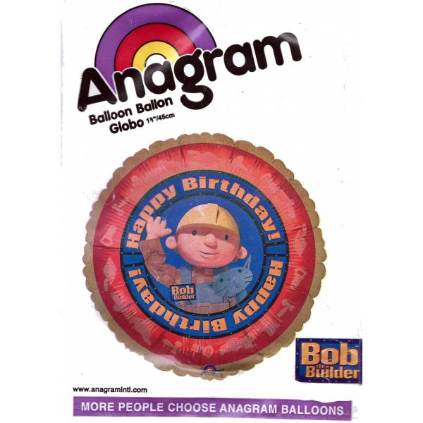 bob le bricoleur birthday Ballon métal 45 cm07282 Bob le bricoleur