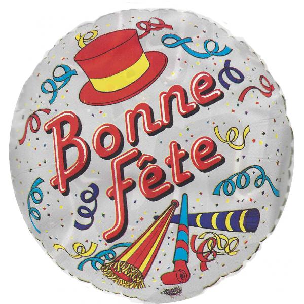 Bonne Fête Ballon métal 45 cm