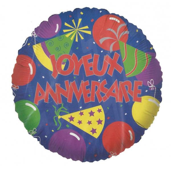 joyeux anniversaire ballon mylar 45 cm