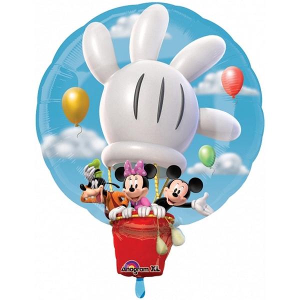 Montgolfière Mickey et ses amis ballon métal 94 cm x 76 cm