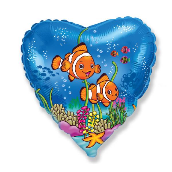 coeur poissons clown diamètre 45 cm