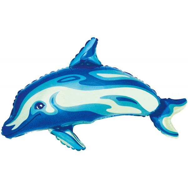 Dauphin bleu ballon forme 91.5 cm